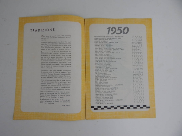 Ferrari 1950 Yearbook Annuario