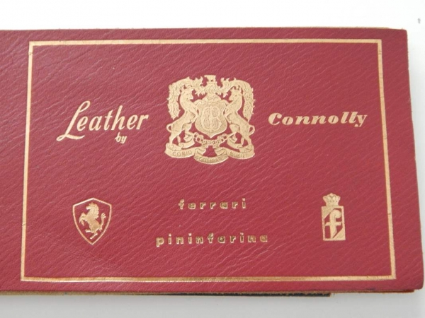 Ferrari Connolly Leather Sample Swatch 1960s