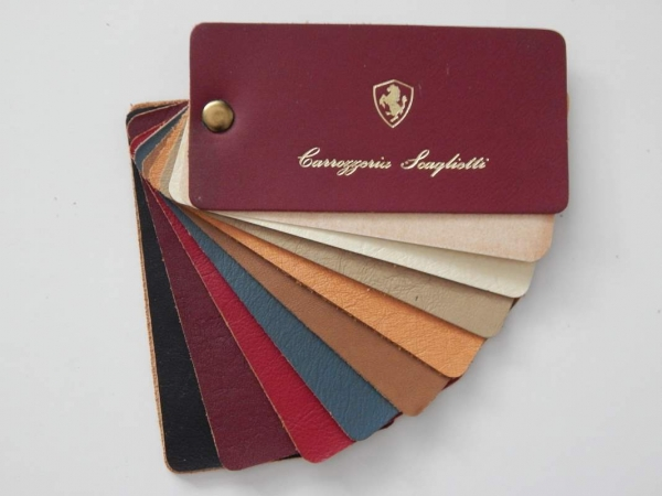 Ferrari Carrozzeria Scaglietti 1960/70s Leather Sample Swatch