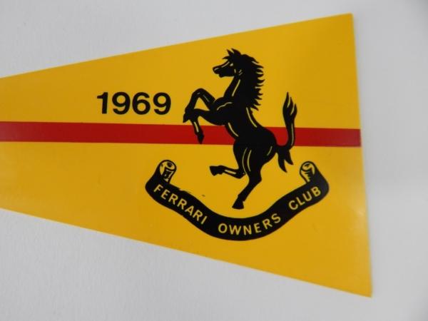 1969 Ferrari Owner's Club Pennant Dino 365
