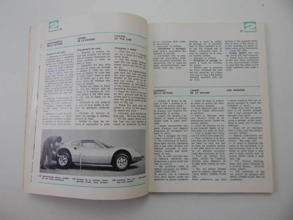 1970 Ferrari Dino Owner's Manual