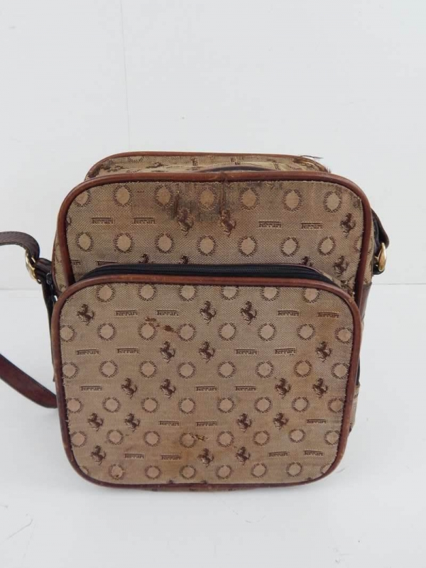 Ferrari 1970's Cavallino Small Travel Luggage Bag
