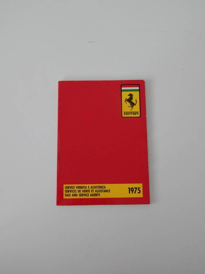 1975 Ferrari Dealer Directory 308 365 BB