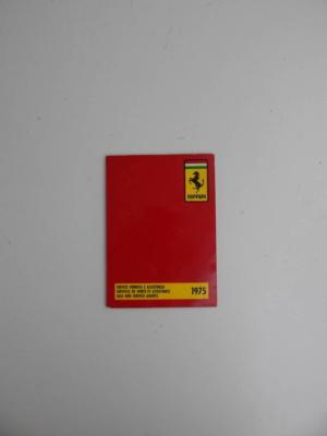 "Ferrari 1975 Dealer Directory ""Servizi Vendita E Assistenza"" 246 365 308"