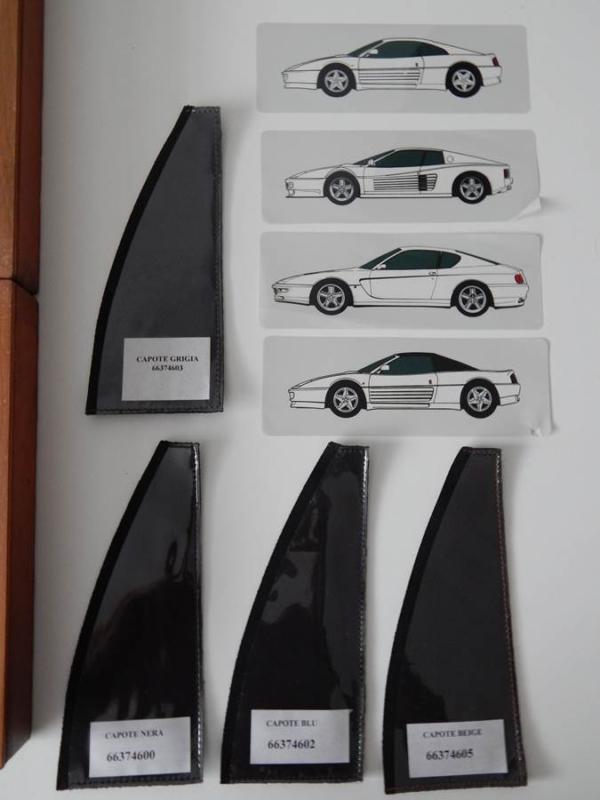 1980/90s Ferrari Schedoni Dealer Paint/Leather/Carpet Sample Briefcase