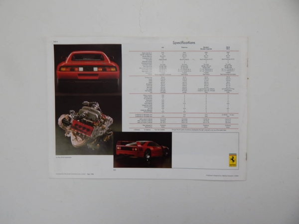 Ferrari 1984 UK Dealer Sales Brochure Documents