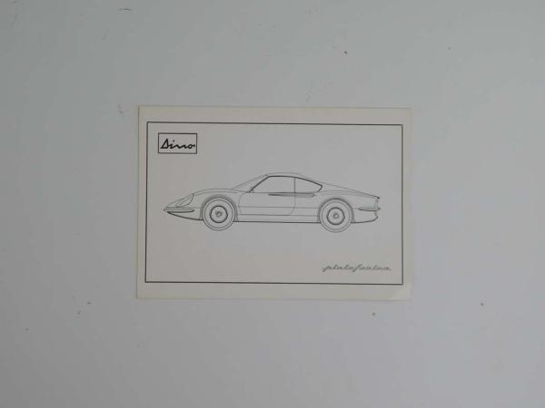 Ferrari 206 Dino Brochure Pamphlet