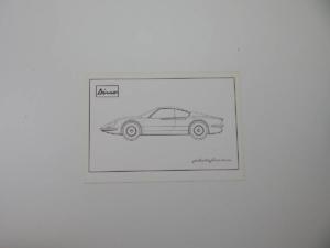 Original Ferrari 206 Dino Brochure/Pamphlet
