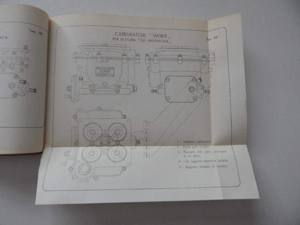 Ferrari 212 Inter 250 MM 340 Mexico 342 America Owner's Manual Handbook