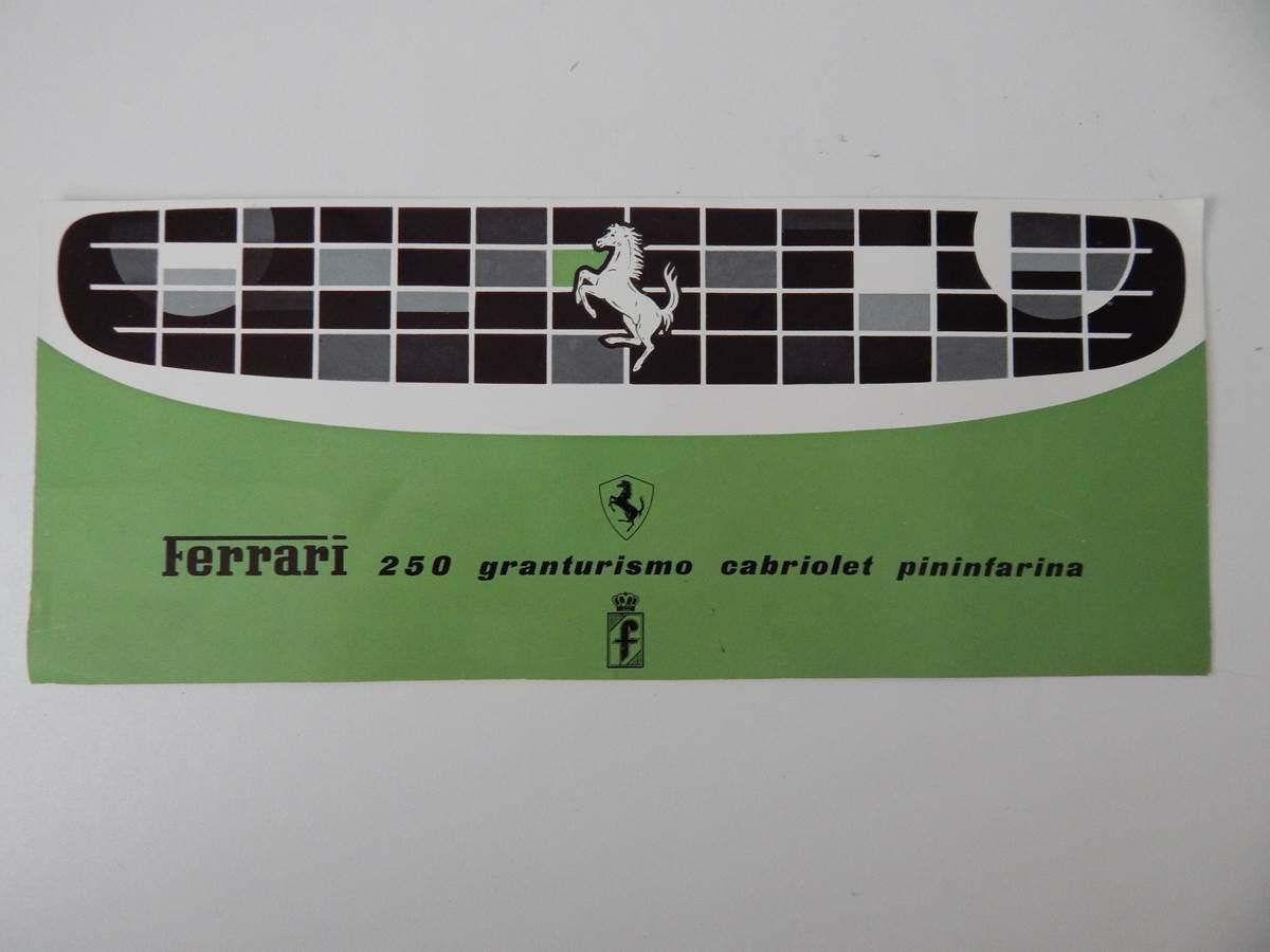 Ferrari 250 Granturismo Cabriolet Pininfarina (PF Cab) Sales Brochure