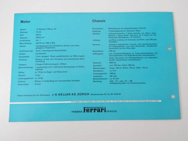 Ferrari 250 Granturismo Coupe Pininfarina (PF Coupe) Sales Brochure