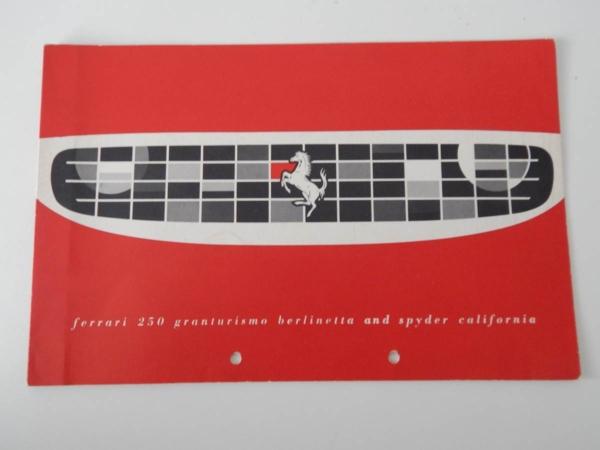 Ferrari 250 Granturismo Coupe Pininfarina (250 SWB) Sales Brochure