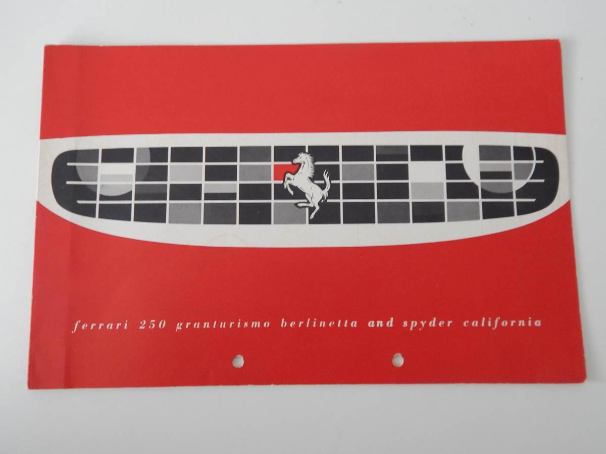Ferrari 250 Granturismo Berlinetta & Spyder California Sales Brochure