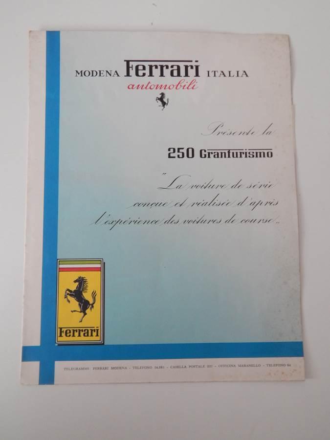 Ferrari 250 Granturismo Sales Brochure