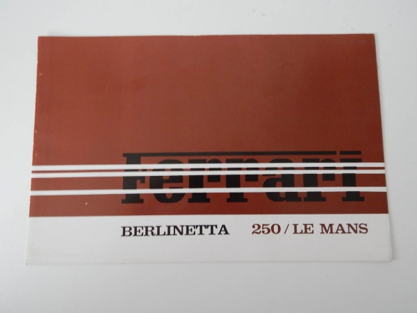 Ferrari 250 Le Mans (250 LM) Sales Brochure