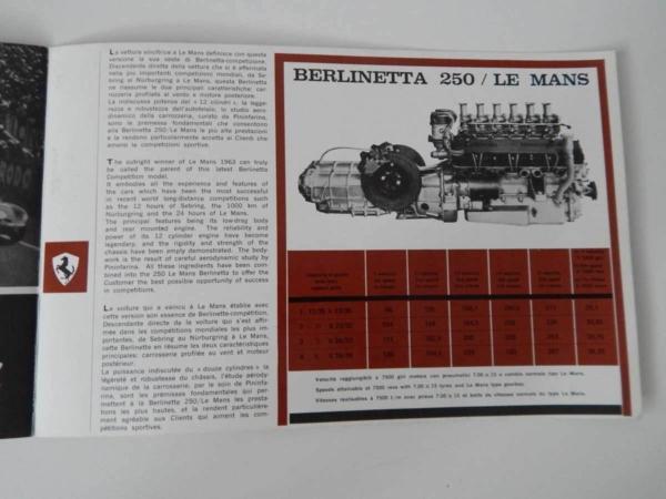 Ferrari 250 Le Mans Sales Brochure