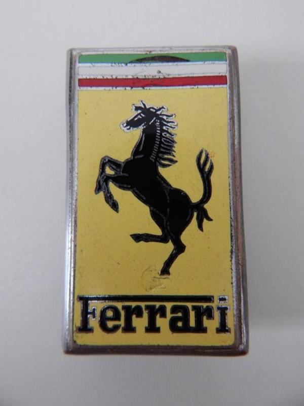 Ferrari 1950/60s OMEA Milano Bonnet Trunk Badge Emblem