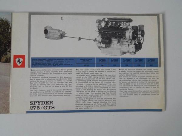 Ferrari 275 GTS Sales Brochure
