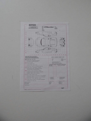 Ferrari 360 Repair Sheet