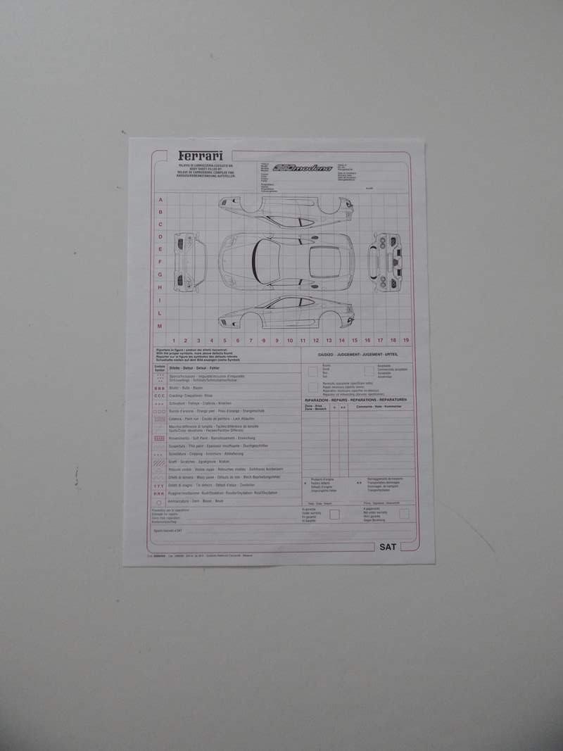 Ferrari 360 Repair Sheet