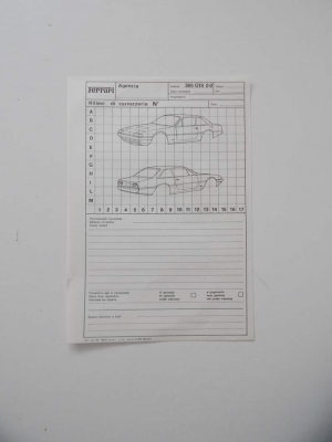Ferrari 365 GT4 2+2 Repair Sheet