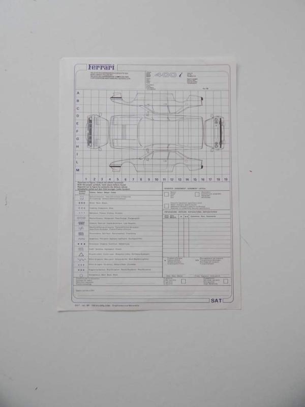 Ferrari 400i Repair Sheet