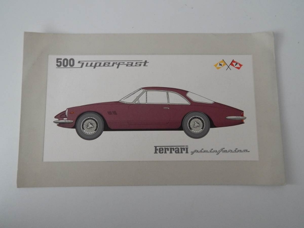 Ferrari 500 Superfast Sales Pamphlet Brochure