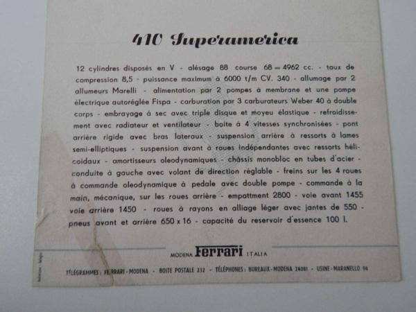 Ferrari 410 Superamerica (410 SA) 375 MM Postcard