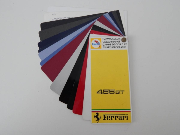 Ferrari 456 GT Glasurit Paint Sample Swatch
