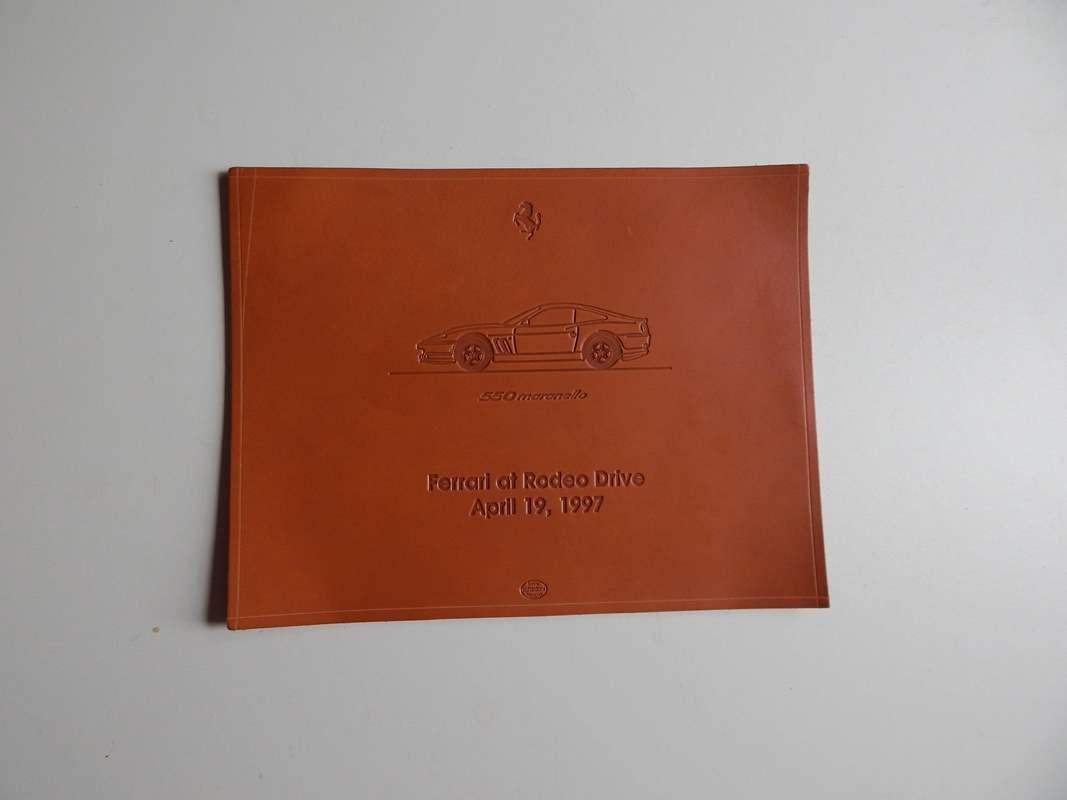 Ferrari 550 Maranello Schedoni Leather Plaque/Card