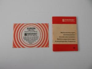 Becker Radio Manual Set