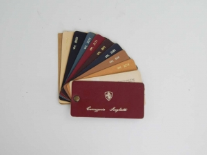 Ferrari 1960s Carrozzeria Scaglietti Leather Sample Swatch