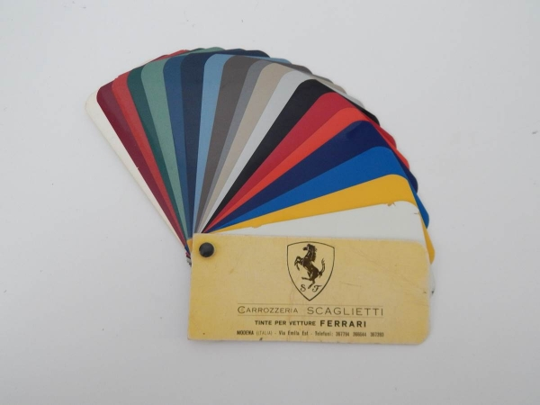 1960/70s Carrozzeria Scaglietti Paint Sample Swatch