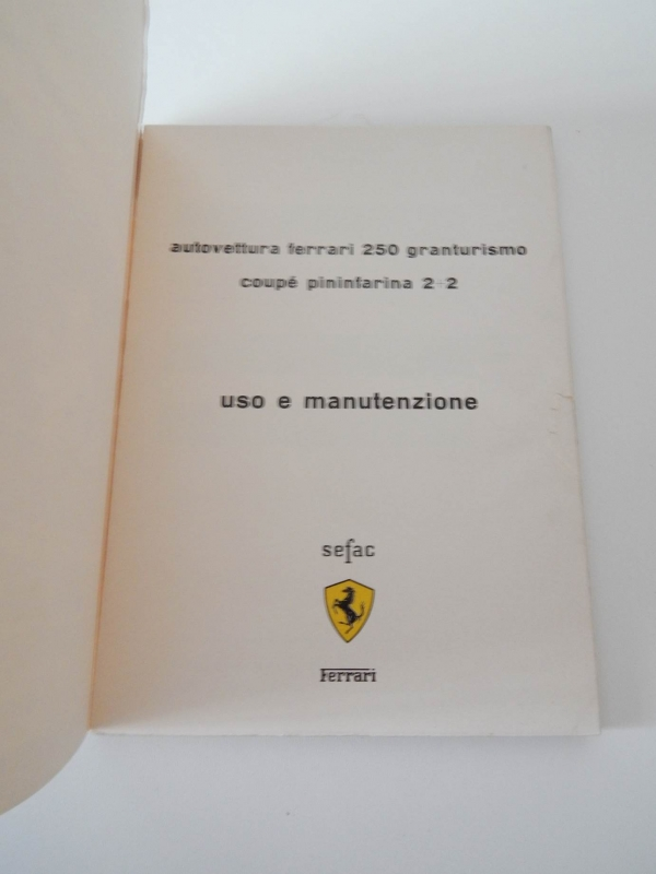 Ferrari 250 Pouch & Owners Manual