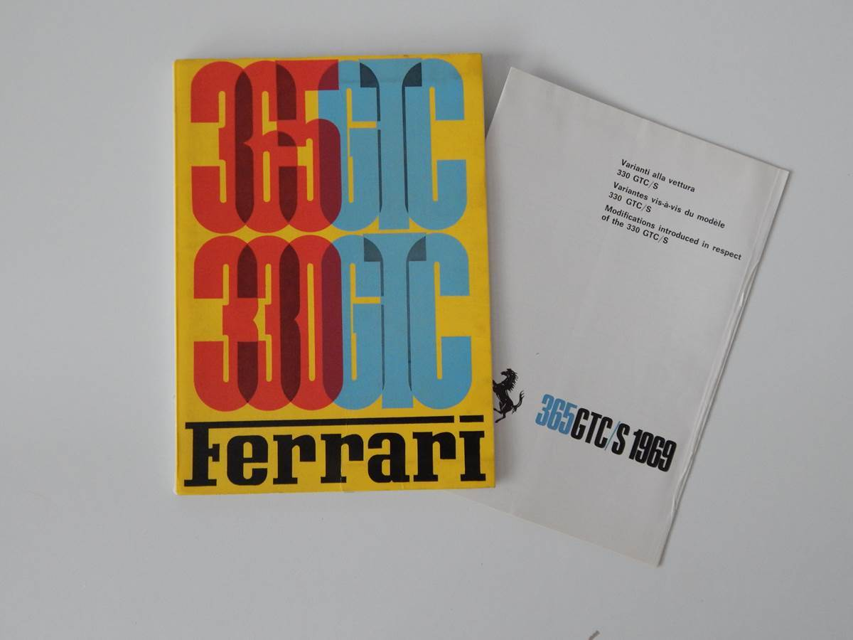 Ferrari 330/365 GTC Owner's Manual Handbook