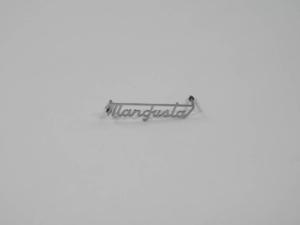 DeTomaso Mangusta Rear Script Badge Emblem