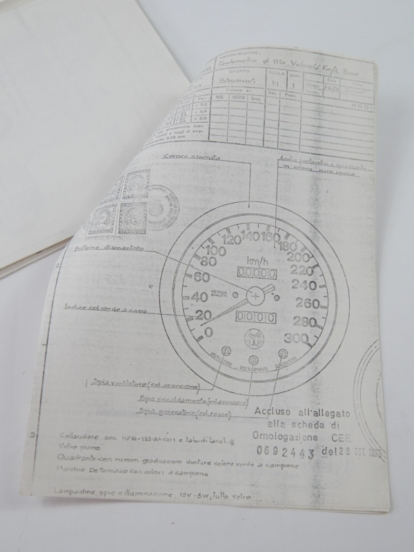 DeTomaso Pantera Homologation Documents