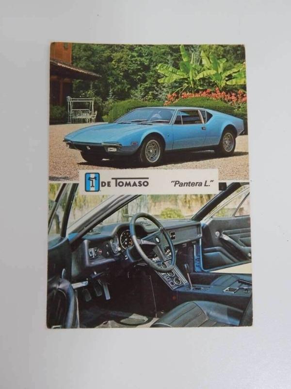 DeTomaso Pantera Postcard