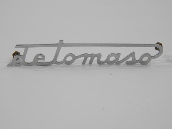 DeTomaso Rear Script Badge Emblem