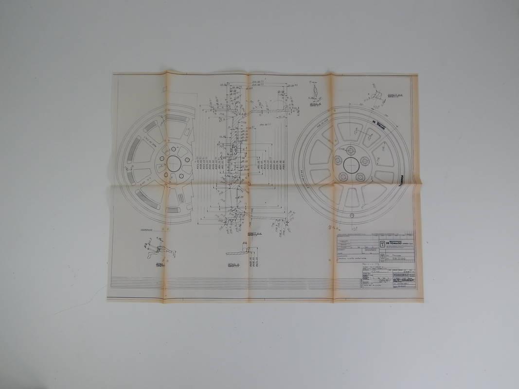 DeTomaso Pantera Wheel Blueprint