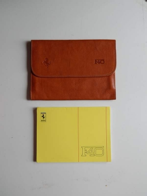 Ferrari F40 Pouch & Owner's Manual