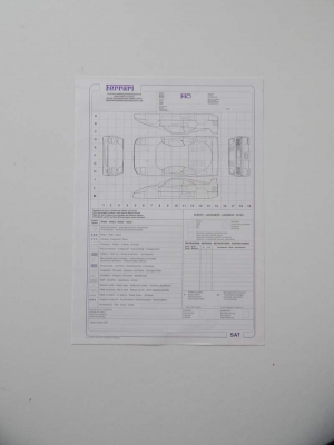 Ferrari F40 Repair Sheet