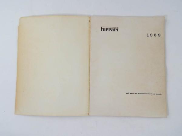 Ferrari 1959 Yearbook Annuario