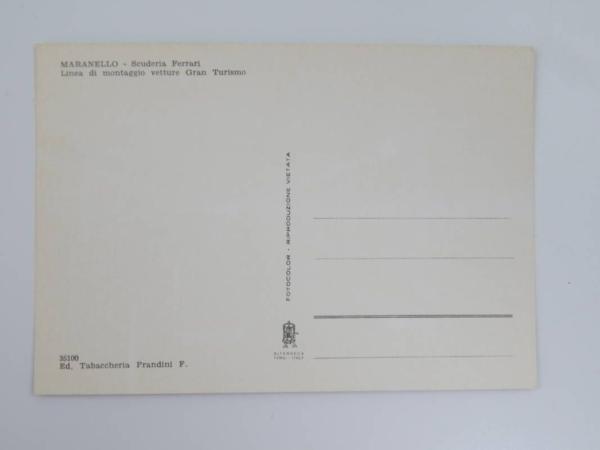 Ferrari 1960s Factory Postcard
