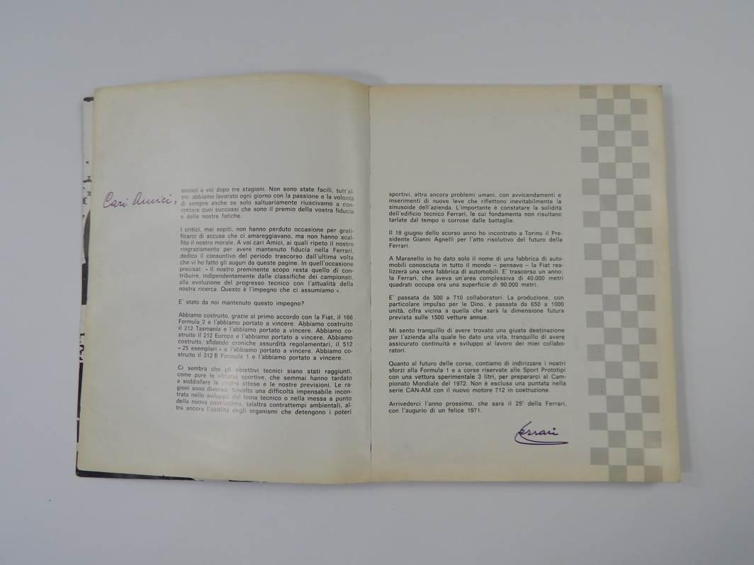 Mobili Tre Ci.Ferrari 1968 69 70 Yearbook Annuario