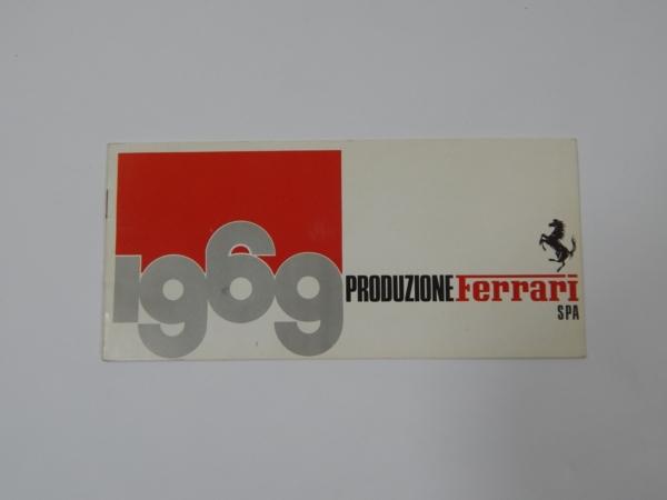 Ferrari 1969 Produzione Sales Brochure 365 330 Daytona Dino