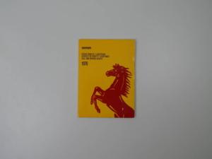 "Ferrari 1976 Dealer Directory ""Servizi Vendita E Assistenza"" 365 308 512"