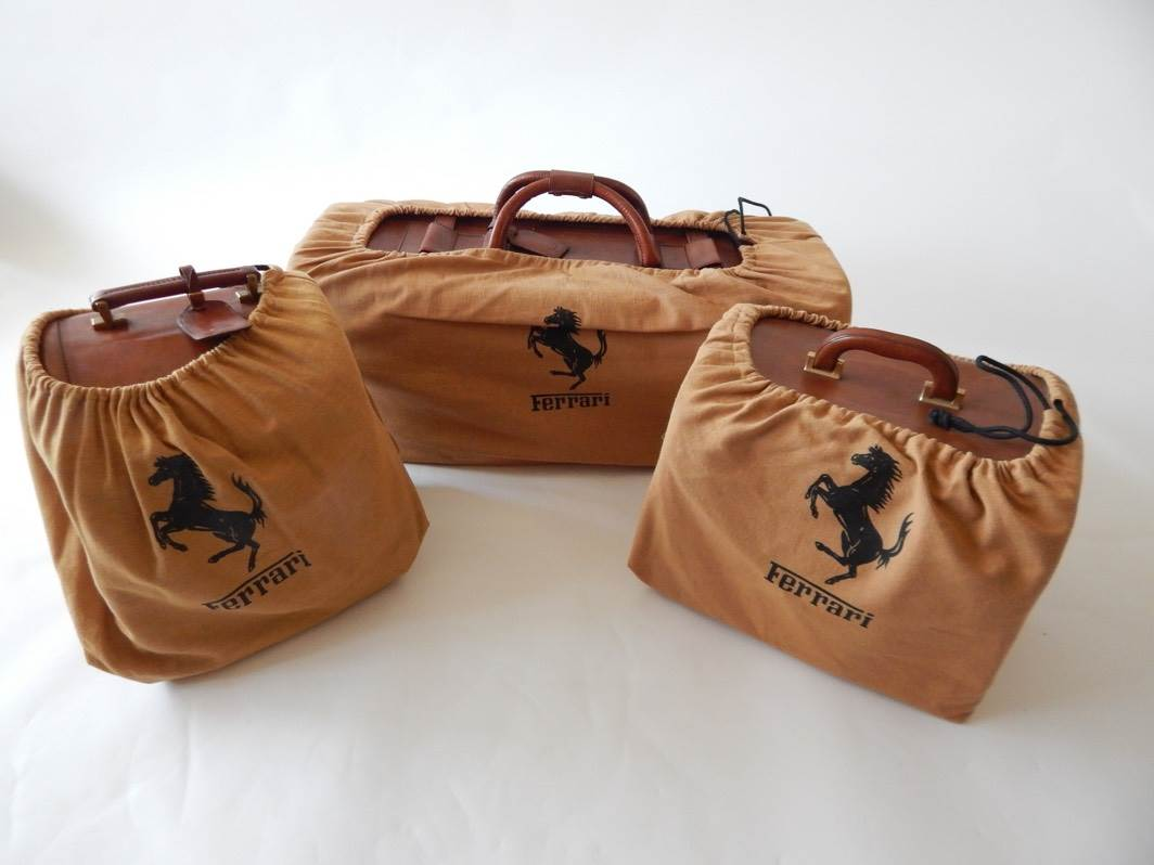 Ferrari 208 Turbo Complete 3 Piece Schedoni Leather Luggage Set