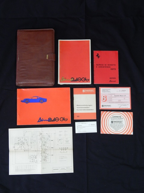 Ferrari 246 Dino Complete Pouch and Manual Set