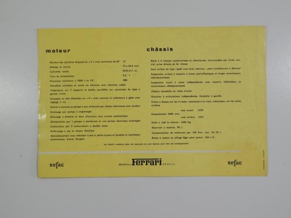 Ferrari 250 California Spyder Sales Brochure